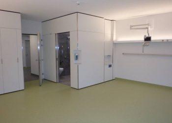Regionalspital Surselva Ilanz Neugestaltung Patientenzimmer mit Einbau Nasszellen
